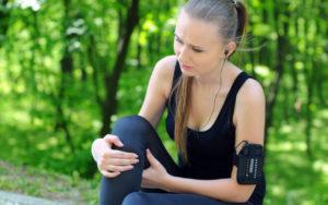 Sportswoman injury